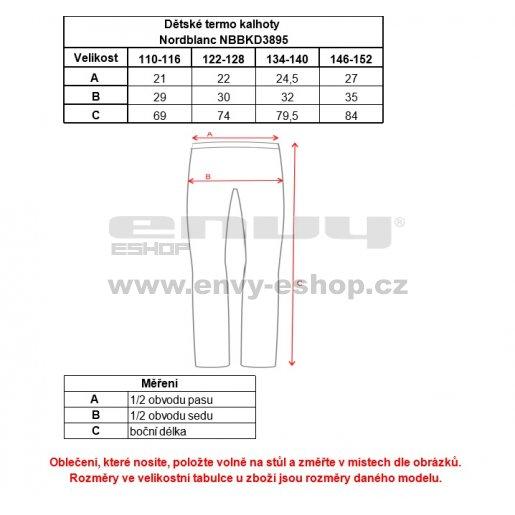 Dětské termo kalhoty NORDBLANC AWAKE NBBKD3895S ČERNÁ 110-140
