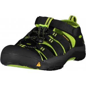 Dětské sandále KEEN NEWPORT H2 JR BLACK LIME GREEN