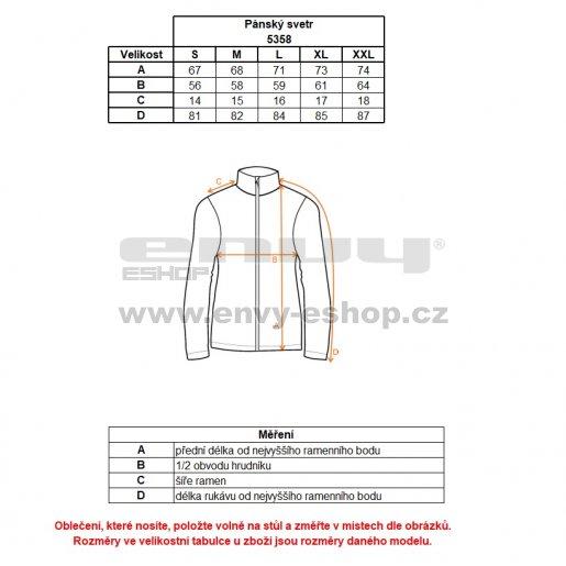 Pánský svetr NORDBLANC APEX NBWFM5358 KRÉMOVĚ BÍLÁ