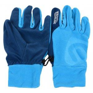 Fleecové rukavice NORDBLANC BRAVERY NBWGF4696 ATOMOVÁ MODRÁ