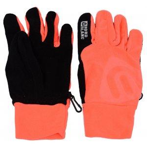 Fleecové rukavice NORDBLANC BRAVERY NBWGF4696 OHNIVÝ KORÁL