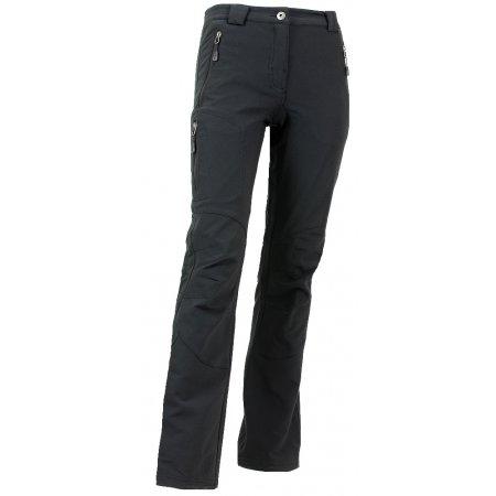 Dámské softshellové kalhoty ALPINE PRO ALBA LPAG047 ČERNÁ