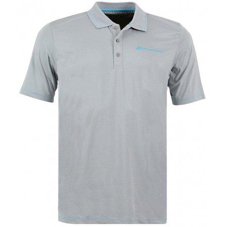 Pánské triko s límečkem ALPINE PRO ISTAS SVĚTLE ŠEDÁ