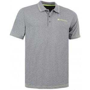 Pánské triko s límečkem ALPINE PRO ISTAS ŠEDÁ