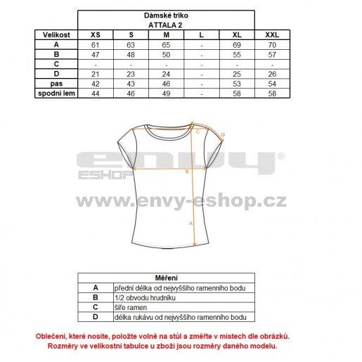 Dámské triko s krátkým rukávem ALPINE PRO ATTALA 2 BÍLÁ