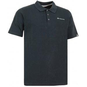 Pánské triko s límečkem ALPINE PRO AKAT MTSG109 ČERNÁ