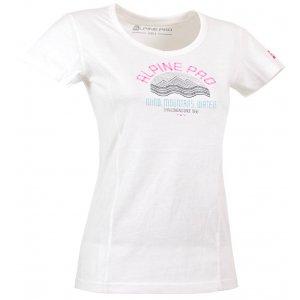 Dámské triko s krátkým rukávem ALPINE PRO SABINO 2 BÍLÁ