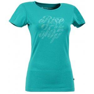 Dámské triko s krátkým rukávem ALPINE PRO ROZENA ZELENÁ