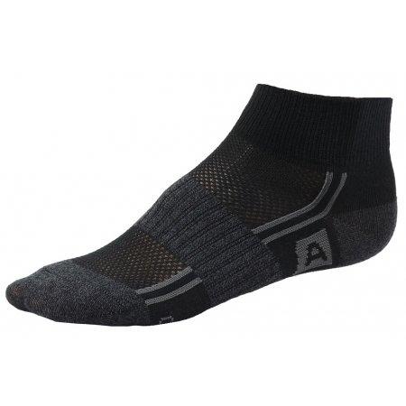Dětské ponožky ALPINE PRO 3RUFO ČERNÁ