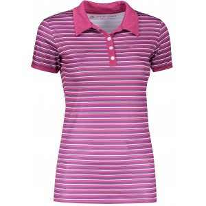 Dámské triko s límečkem ALPINE PRO ULRICO 2 TMAVĚ FIALOVÁ