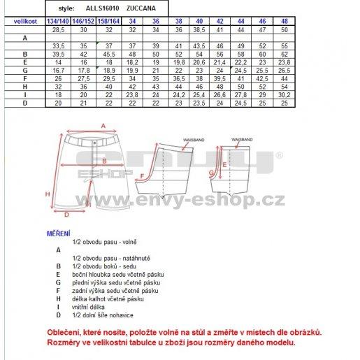 Dámské šortky ALTISPORT ZUCCANA ALLS16010 ČERNÁ