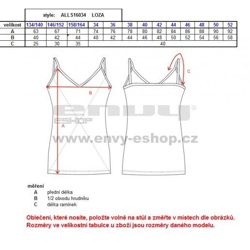 Dětské šaty ALTISPORT LOZA-J ALJS16034 ČERNÁ