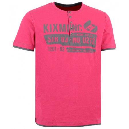 Pánské triko KIXMI ANTONY AAMTS16154 RŮŽOVÁ