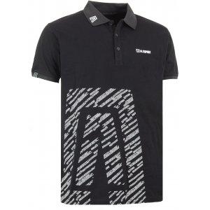 Pánské triko s límečkem ALTISPORT GUSTAVE ALMS16033 ČERNÁ