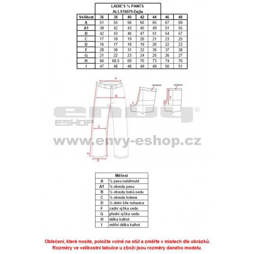 Dámské 3/4 legíny ALTISPORT DAJLA ALLS16079 ČERNÁ