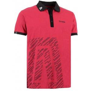Pánské triko s límečkem ALTISPORT GUSTAVE ALMS16033 ČERVENÁ