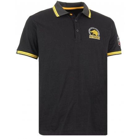 Pánské triko s límečkem ALTISPORT ARMAN ALMS16031 ČERNÁ