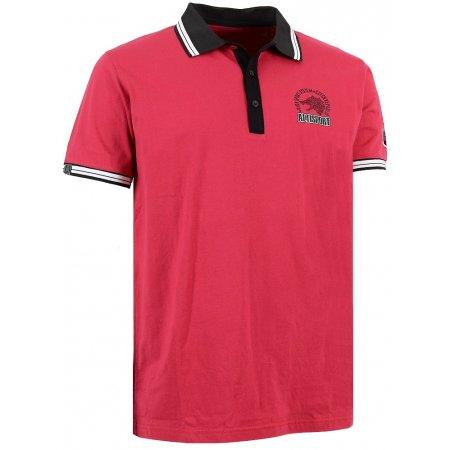 Pánské triko s límečkem ALTISPORT ARMAN ALMS16031 ČERVENÁ