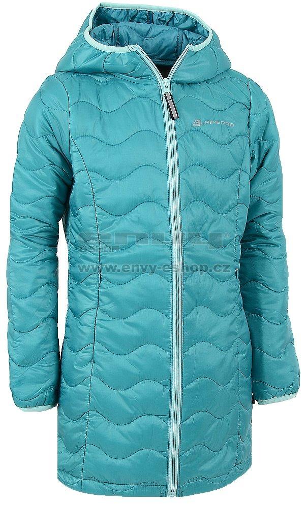 f045d7c72ef5 Dětský zimní kabát ALPINE PRO ADRIANNO ZELENÁ velikost  104-110 ...
