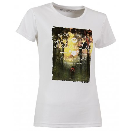 Dámské triko  s krátkým rukávem ALPINE PRO LEDA BÍLÁ