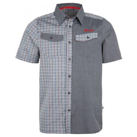 Pánská košile KILPI TUMBUTU TMAVĚ ŠEDÁ
