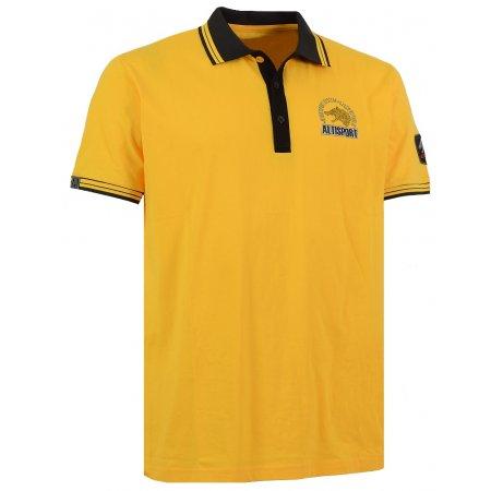 Pánské triko s límečkem ALTISPORT ARMAN ALMS16031 ŽLUTÁ
