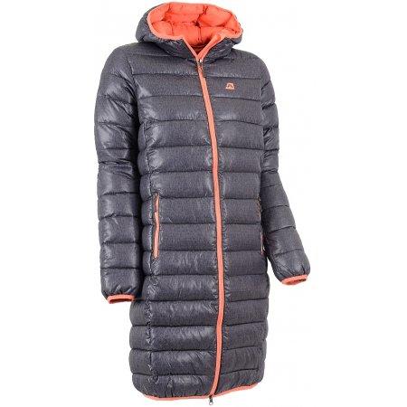 Dámský dlouhý kabát ALPINE PRO RASENA TMAVĚ ŠEDÁ