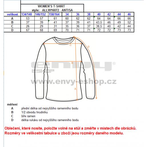 Dívčí triko s dlouhým rukávem ALTISPORT ANTISA-J ALJW16072 TYRKYSOVÁ