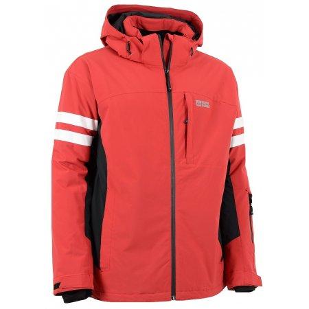 Pánská zimní bunda NORDBLANC PRIMA NBWJM5810 TMAVĚ ČERVENÁ