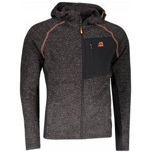 Pánský svetr s kapucí ALPINE PRO SILJAN ČERNÁ