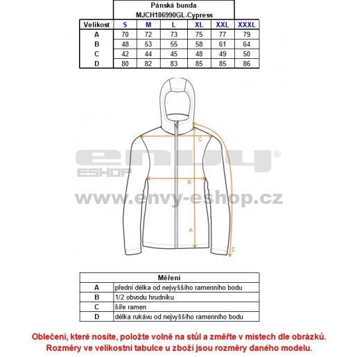 Pánská péřová bunda ALPINE PRO CYPRESS MODRÁ
