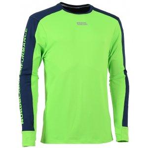 Pánské tričko s dlouhým rukávem NORDBLANC SLING NBFMF5893 ZELENÁ JEŠTĚRKA