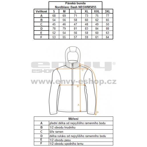 Pánská softshellová bunda NORDBLANC BASH NBWSM5855 ČERVENÁ