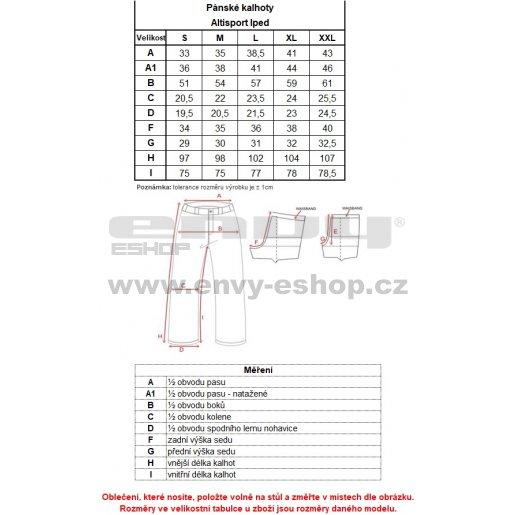 Pánské kalhoty ALTISPORT IPED ALMW16029 ČERNOŽLUTÁ