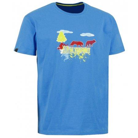 Pánské triko s krátkým rukávem ALTISPORT MIRES ALMW16063 MODRÁ