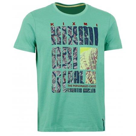 Pánské triko s krátkým rukávem KIXMI BEVIS AAMTW16151 SVĚTLE ZELENÁ