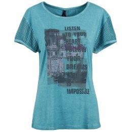 Dámské triko s krátkým rukávem KIXMI BARBIE AALTW16103 SVĚTLE MODRÁ