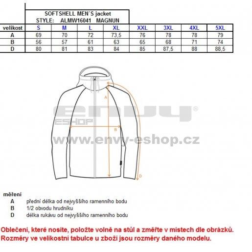 Pánská softshellová bunda ALTISPORT MAGNUN ALMW16041 MODRÁ