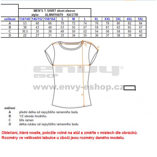 Pánské triko s krátkým rukávem ALTISPORT KASTRI ALMW16070 TYRKYSOVÁ