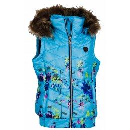 Dámská zimní vesta KIXMI BESSIE AALVW16706 SVĚTLE MODRÁ