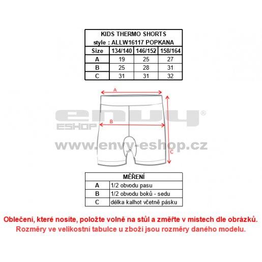 Dětské termo boxerky ALTISPORT POPKANA-J ALJW16117 ČERNÁ