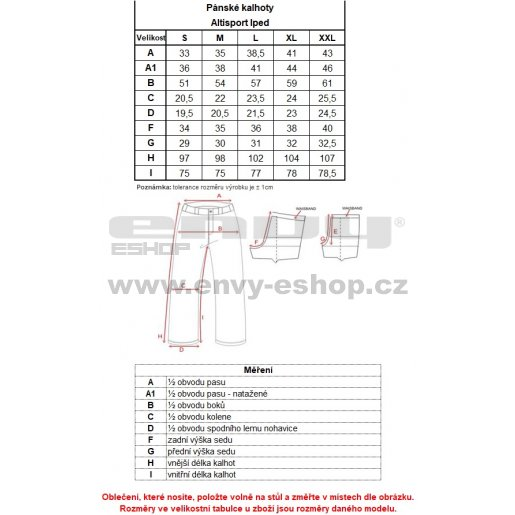 Pánské kalhoty ALTISPORT IPED ALMW16029 SVĚTLE ZELENÁ