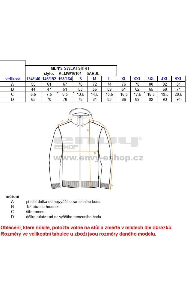 Chlapecká mikina ALTISPORT SARUL-J ALJW16104 MODRÁ velikost  134-140 ... 605053d86b