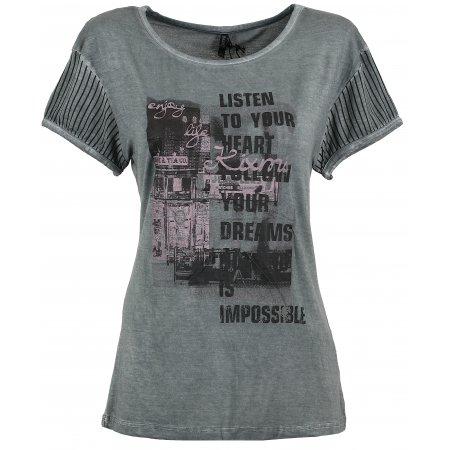 Dámské triko s krátkým rukávem KIXMI BARBIE TMAVĚ ŠEDÁ