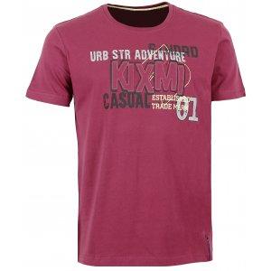 Pánské triko s krátkým rukávem KIXMI BRAITH AAMTW16153 VÍNOVÁ