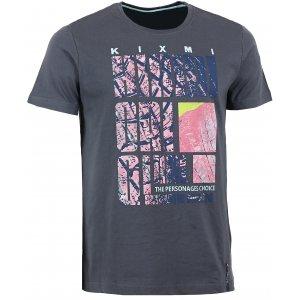 Pánské triko s krátkým rukávem KIXMI BEVIS AAMTW16151 TMAVĚ ŠEDÁ