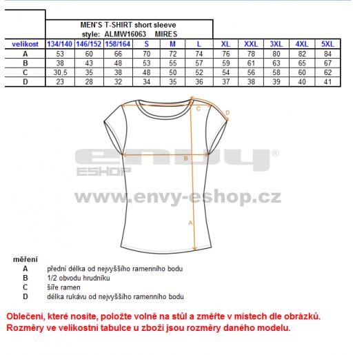 Pánské triko s krátkým rukávem ALTISPORT MIRES ALMW16063 ČERNÁ