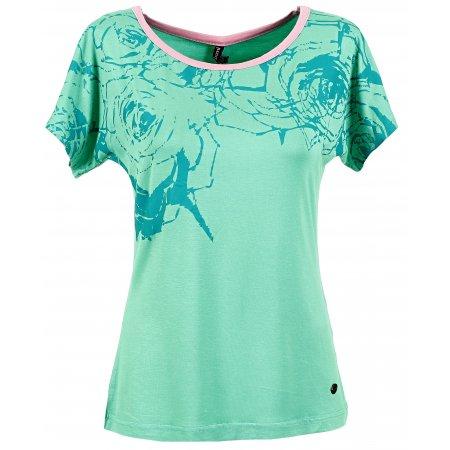 Dámské triko s krátkým rukávem KIXMI BERNADETT AALTW16104 SVĚTLE ZELENÁ