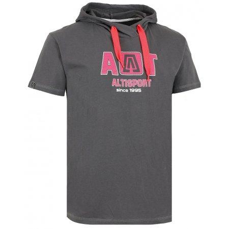 Chlapecké triko s krátkým rukávem ALTISPORT KASTRI-J TMAVĚ ŠEDÁ