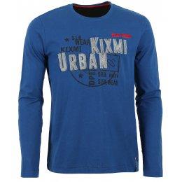 Pánské triko  KIXMI BUSTER AAMTW16154 TMAVĚ MODRÁ